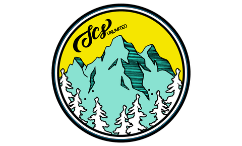 Mountain Script Sticker - SCS Unlimited