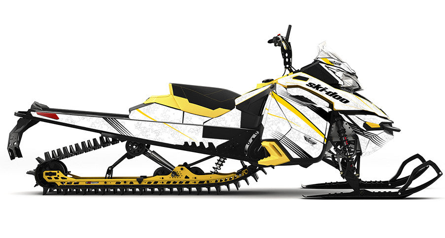 Snow Camo REV-XM Sled Wrap Decal