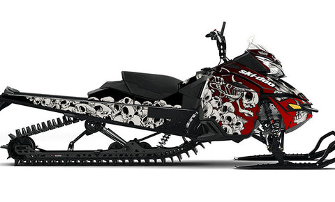 Squindo Doo Skulls REV-XM Sled Wrap Decal