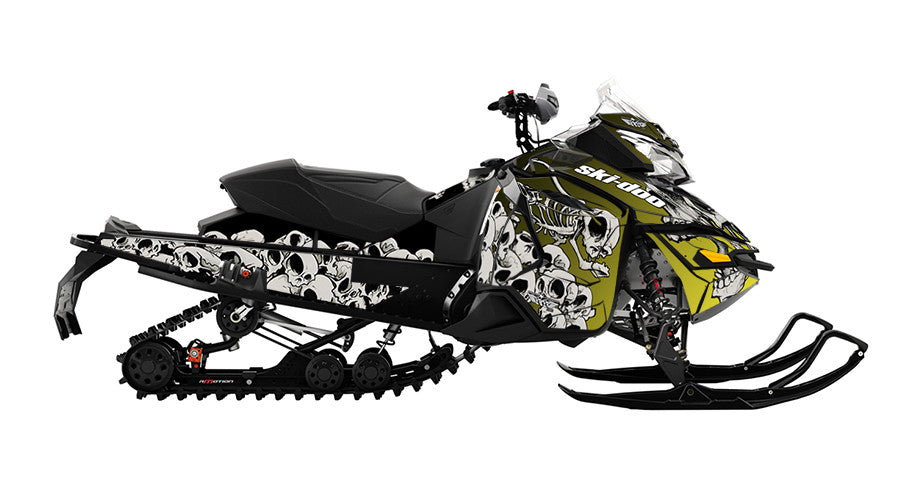 Squindo Doo Skulls REV-XS Sled Wrap Decal