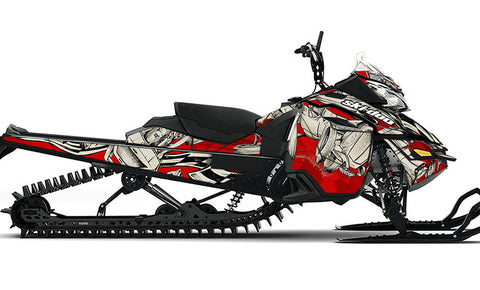 Squindo Drag Ski REV-XM Sled Wrap Decal