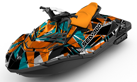 Tiger Shark Sea-Doo SPARK Graphics Kit