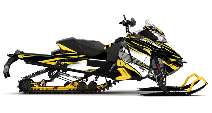 Unlimited Yellow REV-XS Sled Wrap Decal