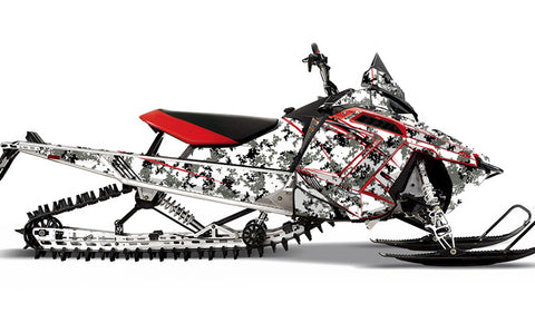 White Digi Camo PRO-RMK Sled Wraps Decals