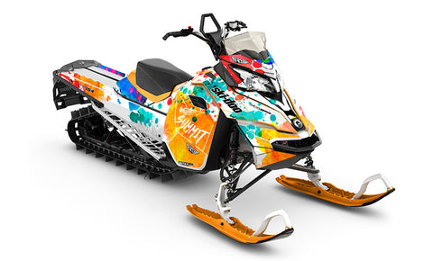 Powder Color REV-XM Sled Wrap Decal
