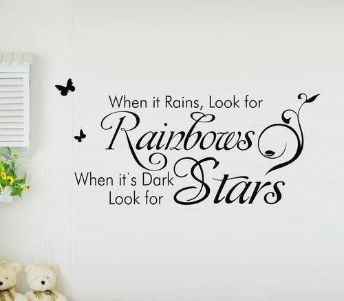 When it Rains, Look for Rainbows. . . .