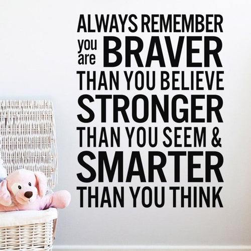 Always Remember You Are Braver. . . .
