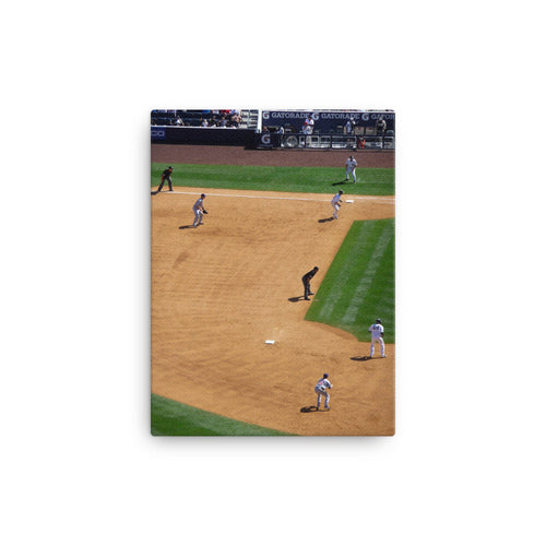 Line Drive For Two Canvas