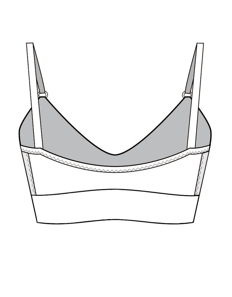 Organic Cotton Bralette with Tencel and Underband Drawing Back Tizz and Tonic Made in Germany
