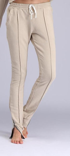 ZIP ME UP NUDE JOGGER SET