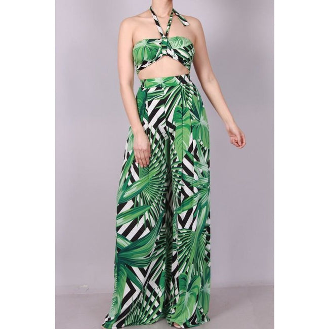 TROPICAL TWO PIECE PANT SET