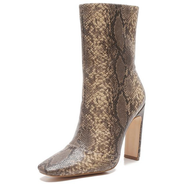 SNAKE SKIN ANKLE BOOTIES