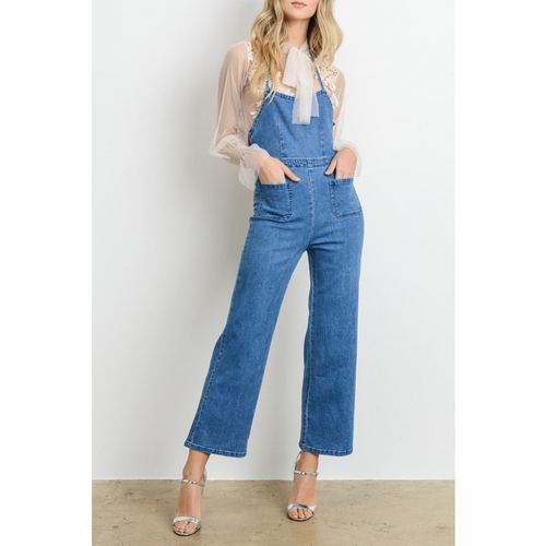 GIVING YOU THE BLUES DENIM JUMPSUIT