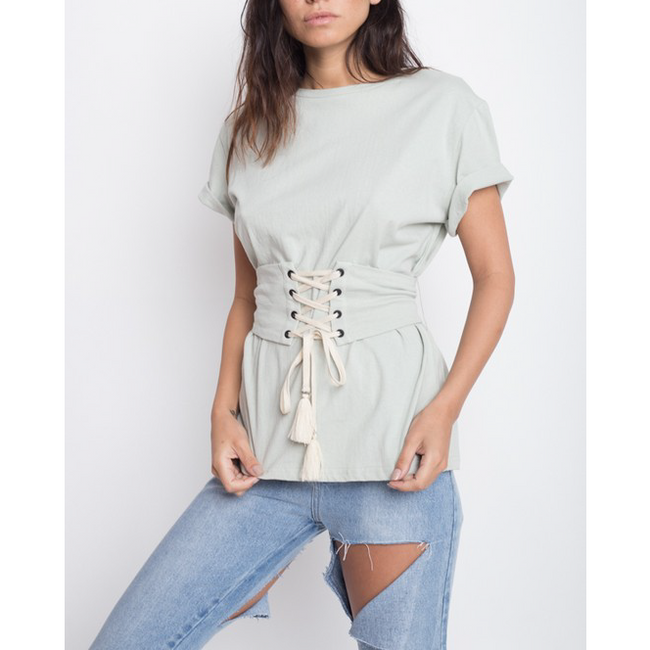 MINT TO BE CORSET T-SHIRT
