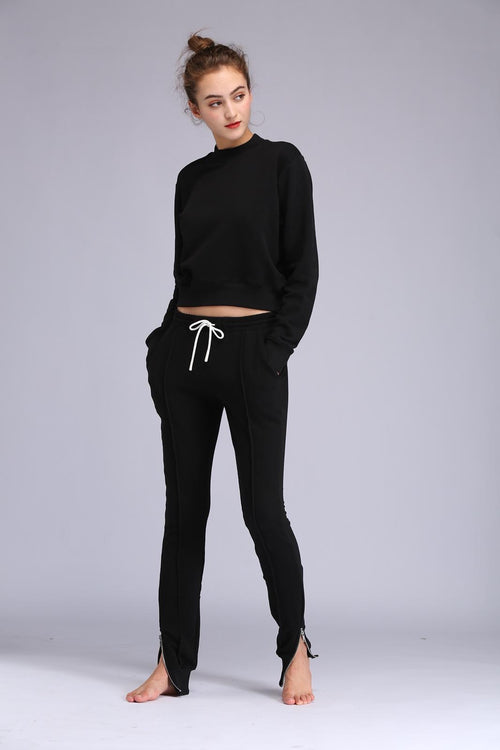 ZIP ME UP BLACK JOGGER SET