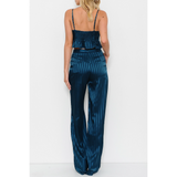 PINSTRIPE TWO PIECE PANT SET