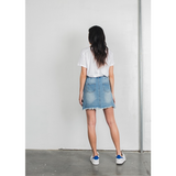 TORN OVER YOU DISTRESSED DENIM SKIRT