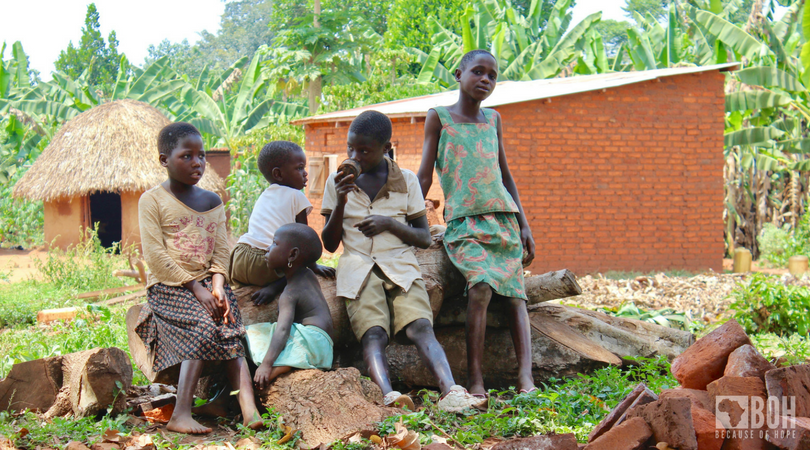 Ugandan children out of school