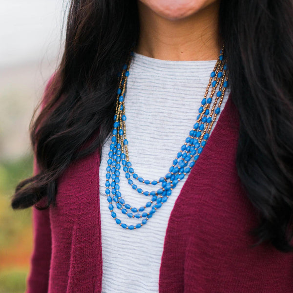 Mariam necklace in Blue