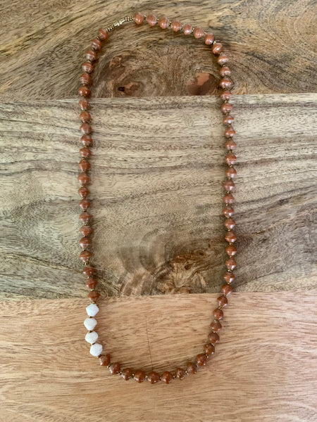Day Dreamer Necklace in Brown