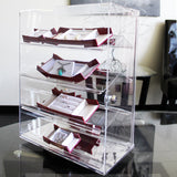 #1106 Lockable Showcase Rotating Acrylic Display Stand with 4 Removable Shelves