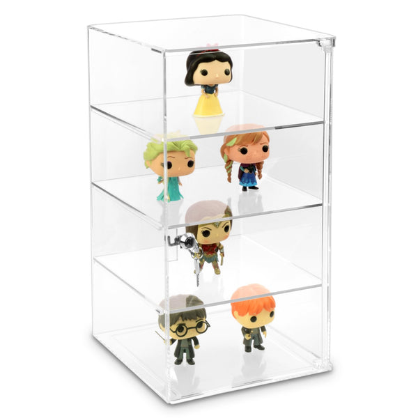 #1109 Acrylic Lockable Showcase Display Stand with 3 Removable Shelves