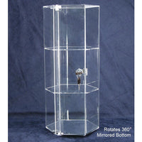 #1142-B Acrylic Rotating Display Showcase | Nile Corp