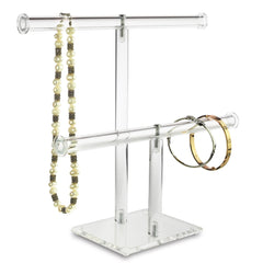 #1330 Acrylic Double T-Bar Necklace and Bracelet Display | Nile Corp