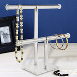 #1330 Acrylic Double T-Bar Necklace and Bracelet Display