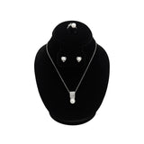 #185-1 Combination Necklace, Ring, and Earring Bust Display with Round Base