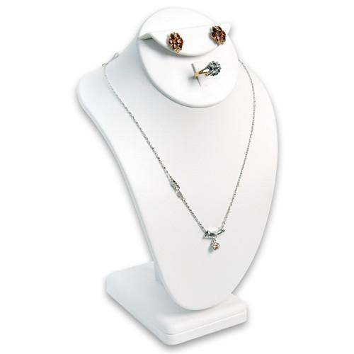 Combination Necklace, Ring, and Earring Bust Display | Nile Corp