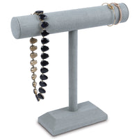 #219-1B-LNLTG T-Bar Bracelet Necklace Display Stand, Dim Gray