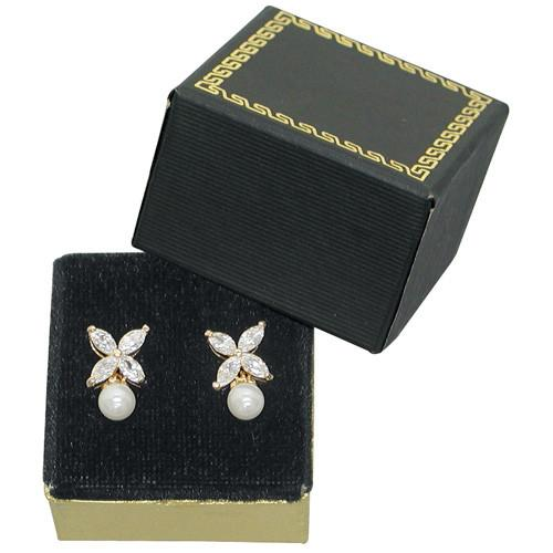 Black Paper Earring Box-Nile Corp