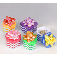 Assorted Chevron Pattern Hat Box-Nile Corp