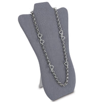 #67-3-LNG  Necklace Stand Holder for Accessory Storage, Dim Gray Linen