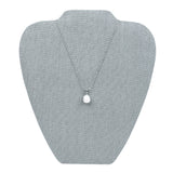 #67-4-LNLTG Necklace Stand Holder for Accessory Storage,Dim Grey Linen