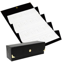 #73-Q2 (BK) Leatherette Jewelry Travel Folders Jewelry Ring Display Cases Box Organizer Storage for 36 Rings