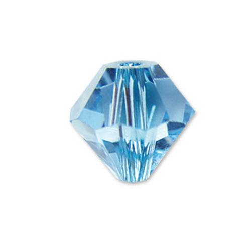 #BCS-53016 (AQUA) Swarovski Diamond Bicone, 6mm | Nile Corp