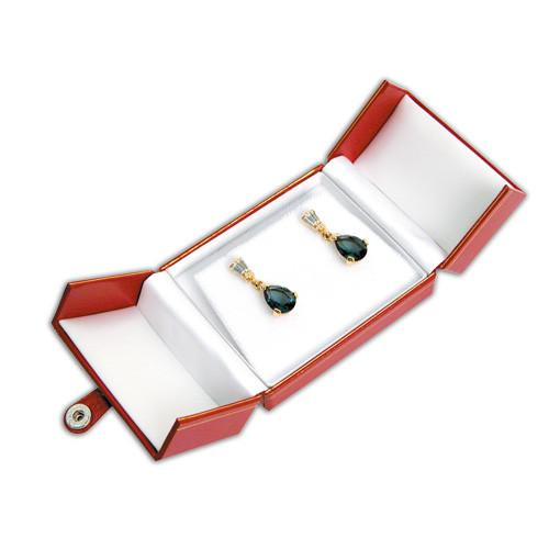 Leatherette Earring/Pendant Box-Nile Corp