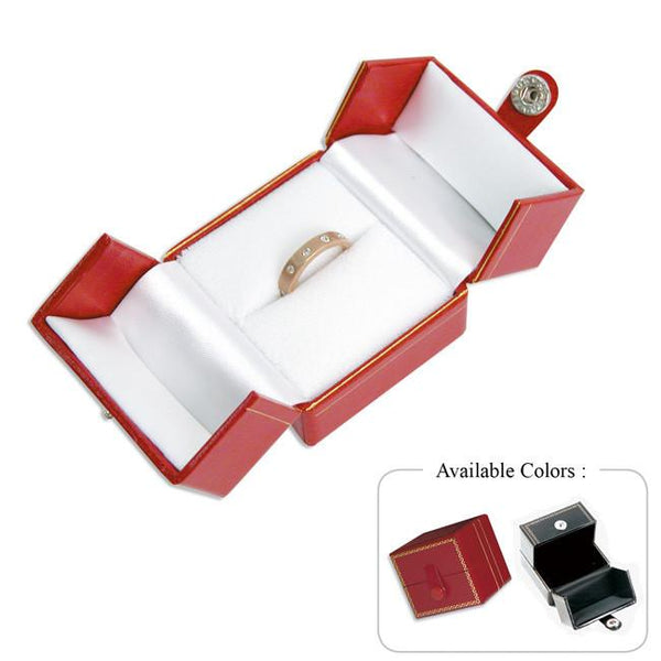 Leatherette Large Ring Box-Nile Corp