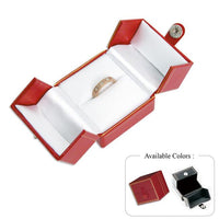 Leatherette Small Ring Box-Nile Corp