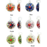 Lampwork Glass Flower Pendant, 35mm | Nile Corp