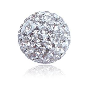 Rhinestone Pave Polymer Clay Ball Bead 10mm-Nile Corp