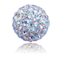 Rhinestone Pave Polymer Clay Ball Bead 12mm-Nile Corp