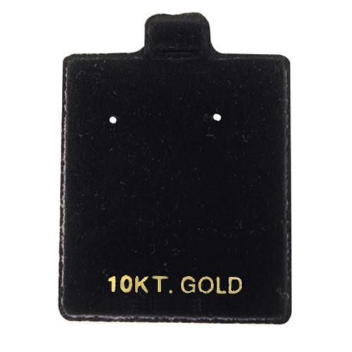 Black Flocked Earring Puff Card with 10KT-Nile Corp