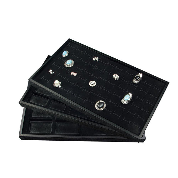 3 Piece Set Plastic Jewelry Tray with Inserts-Nile Corp