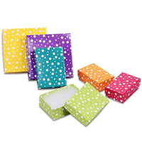 #BX2810-PD Polka Cotton Filled Jewelry Paper Box | Nile Corp