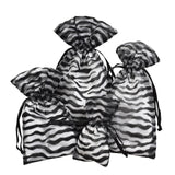 Flocked Velvet Zebra Stripes Sheer Organza Bags-Nile Corp