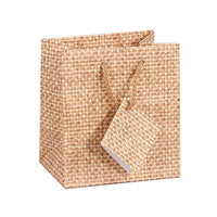 #BX4752-N3 Jewelry Shopping Tote Bag. Burlap Printed