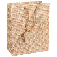 #BX4755-N3 Jewelry Shopping Tote Bag, Burlap Printed